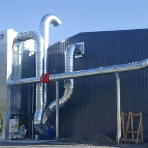 esempio installazione Mini-silos filtrante con pulizia a scuotimento meccanico